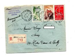 Lettre Recommandée Cerisy Sur Europa Carnac Joux - Poststempel (Briefe)