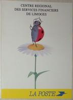 Petit Calendrier Poche 1993 La Poste Services Financiers Limoges Coccinelle  Marguerite - Calendars