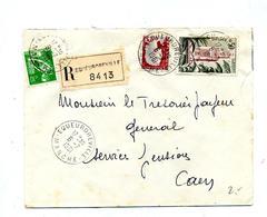 Lettre Recommandée Equeurdreville Sur Decaris Tlemcen Moisson - Poststempel (Briefe)