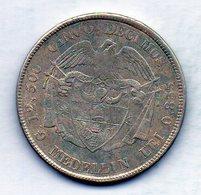 COLOMBIA - MEDELLIN, 5 Decimos, 1885, Silver, KM #161.1 - Colombia