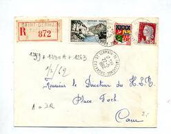 Lettre Recommandée Saint Germain De Tallevende Sur Sioule Decaris - Poststempel (Briefe)
