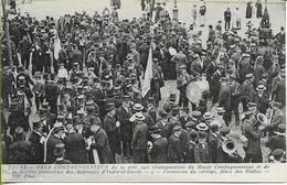 TOURS  Fête Compagnonnique 24 Sept 1911 Inauguration Du Musée, Formation Du Cortège Place Des Halles - Tours
