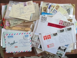 BIG LOT, 2 Kg,  ABOUT 1500 WORLDWIDE STAMPS, DOCUMENTS WITH  TAX STAMPS, 300+ COVERS POSTCARDS , AND OTHER - Lots & Kiloware (mixtures) - Min. 1000 Stamps