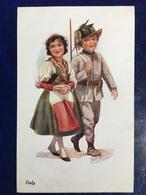 "Cpa--""WW1-Soldat Enfant Italien&compagne""""-Joyce Averill (my Ref JA12) - Illustrateurs & Photographes"
