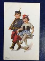 "Cpa--""WW1-Soldat Enfant Francais&compagne""""-Joyce Averill (my Ref JA14) - Illustrateurs & Photographes"