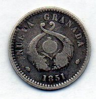 COLOMBIA - BOGOTA, 1 Real, 1851, Silver, KM #112 - Colombia