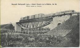 RUSSIE  Grand Chemin De La Sibérie N° 40 (train De Marchandises  Sur Un Pont En Arche Inversée) - Russia