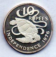 SEYCHELLES, 10 Rupees, Silver, Year 1976, KM #28a - Seychellen
