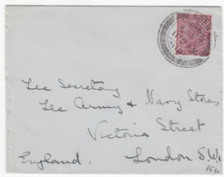 Aden 1934 With Stamps From India, Small Letter - Aden (1854-1963)