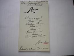 BRUXELLES - ANCIEN MENU 1930 - RESTAURANT DE LA MAISON DU PEUPLE - Menus