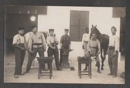 Carte-Photo - Maréchal Ferrant - Forgeron - Souvenir Des Maréchaux De La Kasbah Classe 1926 - Militaria