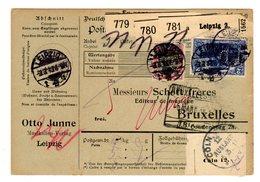 Leipzig Germania Cartolina Pubblicitaria Casa Musicale Editrice Otto Junne Con Bollo Perfin O.J. - Musique