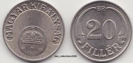 Hongrie - 20 Filler -année 1938 - Hongrie