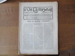 LA VIE AUTOMOBILE DU 25 MAI 1920 LES NOUVELLES VOITURES TH. SCHNEIDER,LA SKOOTAMOTA,LES MOTEURS SALON DE 1919 - Auto