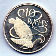 SEYCHELLES, 10 Rupees, Silver, Year 1974, KM #20a - Seychelles