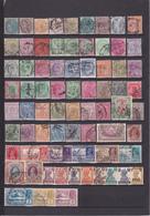 UN LOT DE 96 TIMBRES ANCIENS OBLITERES - India (...-1947)