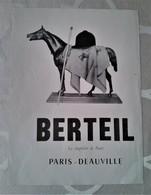 Berteil, Le Chapelier De Paris-Deauville, équitation, Cheval - Advertising