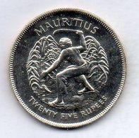 MAURITIUS, 25 Rupees, Silver, Year 1977, KM #43 - Mauricio