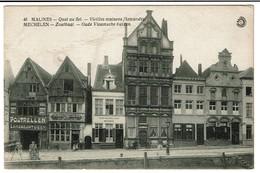 Malines - Quai Au Sel - Vieilles Maisons Flamandes / Mechelen - Zoutkaai - Gebr. Boey / Estaminet Kleinen Zalm ..2 Scans - Malines