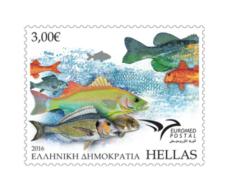 Greece 2016 EUROMED - Fishes Set MNH - Griechenland