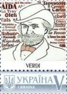 Ukraine 2018, Italy Composer Verdi, 1v - Ukraine