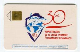 Telecarte °_ MF 28-Jeune Chambre éco-gem-50u- R/V 731C ° LUXE - Monaco