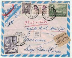 Argentine// Lettre Recommandée Expresso Pour La Suisse - Covers & Documents
