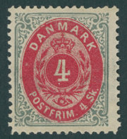 DÄNEMARK 17IA *, 1871, 3 S. Grau/lila, Falzrest, Pracht, Mi. 70.- - Danemark