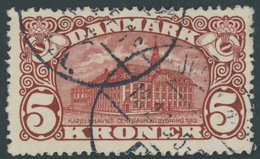 DÄNEMARK 66 O, 1912, 5 Kr. Hauptpost, Wz. 1, Rauhe Zähnung, Pracht, Mi. 120.- - Danemark
