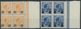 DÄNEMARK 151/2 VB **, 1926, König Christian X In Randviererblocks, Postfrisch, Pracht, Mi. 60.- - Danemark