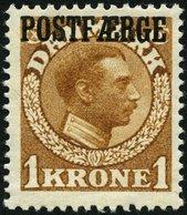POSTFÄHREMARKEN Pf 4 *, 1919, 1 Kr. Hellbraun, Falzrest, Pracht - Danemark