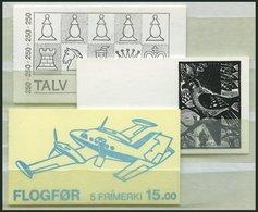 FÄRÖER MH 1-3 O, 1983-85, 3 Verschiedene Gestempelte Markenheftchen, Pracht - Danemark