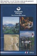 FÄRÖER **, 4 Verschiedene Jahreshefte: 1989 Und 1991-93, Postfrisch, Pracht - Danemark