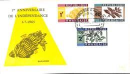 [902751]TB//-Rwanda 1963 - Anniversaire De L'indépendance, Fruits - Agriculture