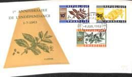 [902752]TB//-Rwanda 1963 - Anniversaire De L'indépendance, Fruits - Agriculture