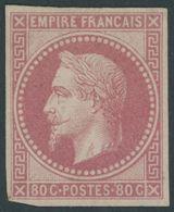 F.KOL ALLGEMEINE AUSGABEN 9 *, 1871, 80 C. Karminrosa, Falzreste, Feinst, Mi. 1000.- - France (former Colonies & Protectorates)