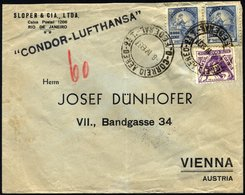BRASILIEN 8.4.1937, CONDOR-LUFTHANSA Nach Wien Geflogen, Bedarfsbrief, Feinst, Haberer 530a - Luchtpost