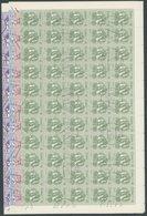 CUBA 2810-13 O, 1983, Blüten Im Bogensatz (100) Mit Zentrischen Stempeln, 1x Gefaltet, Pracht, Mi. 320.- - Gebraucht