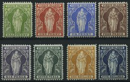 JUNGFERNINSELN 18-25 *, 1899, Heilige Ursula Mit Lilienzweig, Falzreste, Prachtsatz, Mi. 170.- - British Virgin Islands
