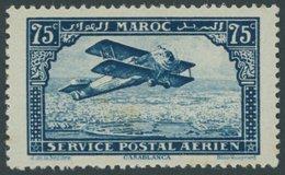 MAROKKO 41 **, 1922, 75 C. Flugzeug über Casablanca, Minimal Fleckig Sonst Postfrisch Pracht, Mi. 90.- - Marokko (1956-...)