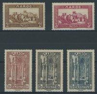 MAROKKO 112-16 *, 1933, 2 - 20 Fr. Landschaften Und Bauten, Falzrest, 5 Prachtwerte - Marokko (1956-...)
