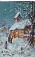 AK Gelukkig Kerstfeest - Kirche Im Winter - 1927  (45644) - Noël