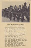 AK Gerda - Ursula - Marie! - Liedtext - Herms Niel - Soldaten Beim Marsch (45645) - Guerra 1939-45