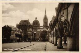 CPA AK Aachen Dom Mit Rathausbogen GERMANY (938455) - Aachen
