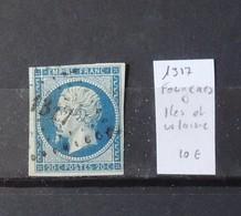 12 - 19 //  France N° 14 Oblitération 1317 - Fougères - Ile Et Vilaine - Marcophilie (Timbres Détachés)