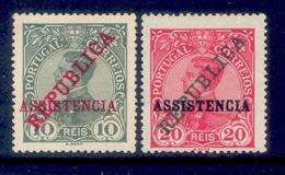! ! Portugal - 1911 Postal Tax King Mamuel (Complete Set) - Af. IP01 To 02 - MH - Télégraphes