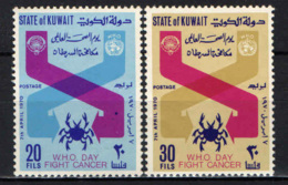 KUWAIT - 1970 - World Health Organization Day, Apr. 7, And To Publicize The Fight Against Cancer - MNH - Kuwait