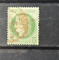 12 - 19 //  France N° 53  Oblitération Rouge Des Imprimés - Marcophilie (Timbres Détachés)