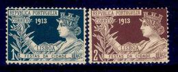 ! ! Portugal - 1913 Postal Tax Festas (Complete Set) - Af. IP05 To 06 - MH - Télégraphes