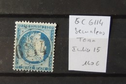 12 - 19 //  France - Bureaux Supplémentaires - GC 6114 - Semalens - Tarn - Indice 15 - Marcophilie (Timbres Détachés)
